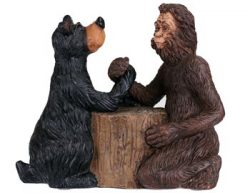 Bigfoot and Bear Arm-Wrestle