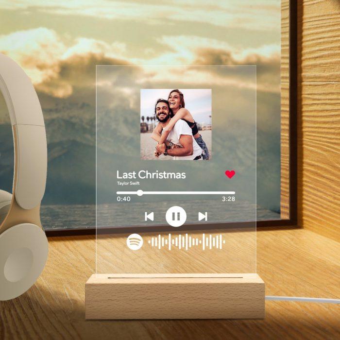 Plaque De Musique Acrylique Personnalisée Spotify Code Veilleuse En Verre Art Spotify