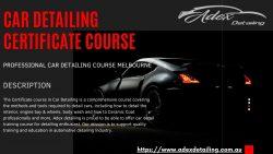 Professional Car Detailing course Melbourne