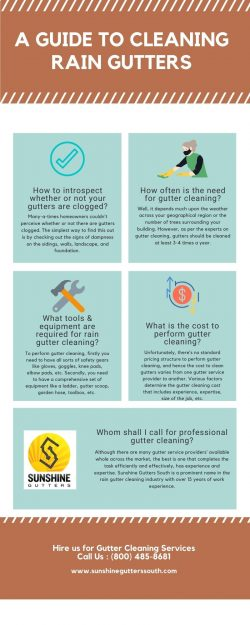 A GUIDE TO CLEANING RAIN GUTTERS