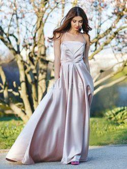 Abito da sera grandi vendite a-line principessa cerniera anello con increspato – Gillne.it