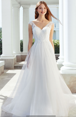Adore Justin Alexander 11124 Beaded Lace and Tulle Gown