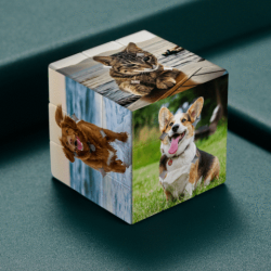Custom Photo Rubik's Cube Lovely Pet Gift DIY Multiphoto Cube
