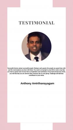 Anthony Amirthanayagam – The Best Testimonial