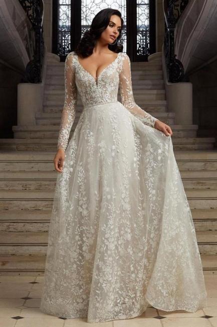 Boho Hochzeitskleider mit Ärmel   Brautkleider Spitze