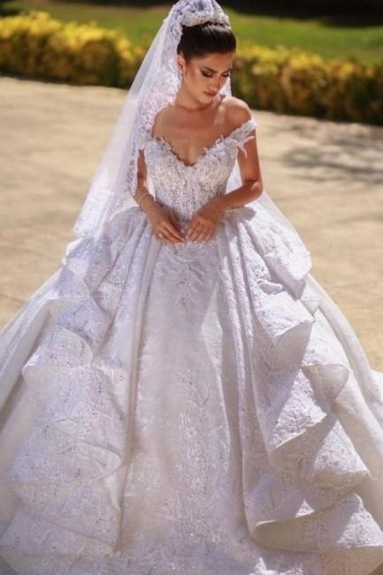 Schöne Brautkleider A Linie Spitze   Hochzeitskleider Günstig