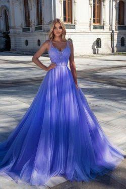 Abendkleider Lang Glitzer | Blaue Abiballkleider Günstig