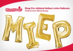 Shop Pre-Inflated Helium Letter Balloons Online from BloonAway