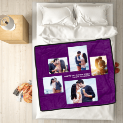 Custom Blankets Personalized Photo Blankets Custom Collage Blankets With 5 Photos