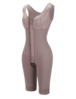 Brown Queen Size Plain Crotchless Bodysuit Unpadded Blood Circulation Boosting