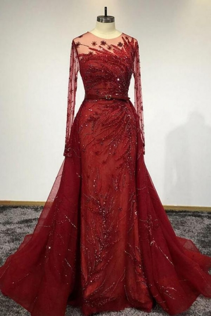 Designer Abendkleider Lang Rot | Abiballkleider Mit Glit