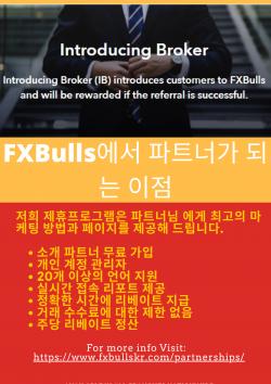 FXBulls에서 파트너가 되는 이점