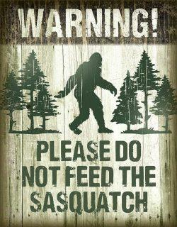 Bigfoot Retro Tin Sign