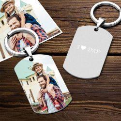 Custom Color Printing Photo Keychain