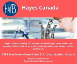 Hayes Canada – Dental Handpiece Repairs Expert