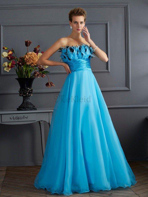 Natürliche Taile Prinzessin Sittsames Bodenlanges Abendkleid mit Reißverschluss – MeKleid.de