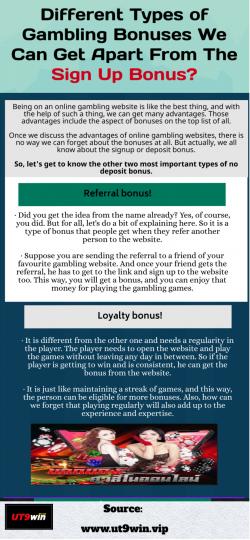 Some Free Bonus Opportunities In Gambling Online