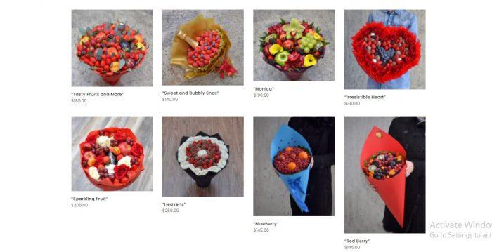 Order fruit bouquet toronto
