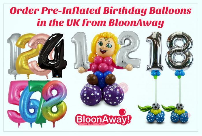 Order Pre-Inflated Birthday Balloons in the UK from BloonAway