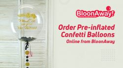 Order Pre-inflated Confetti Balloons Online from BloonAway