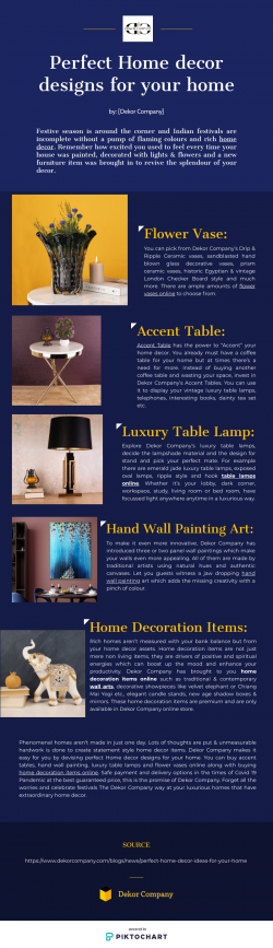 Perfect Home decor designs for your home