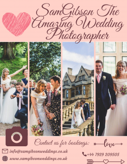 Confirm Your Wedding Shoot with this amazing Photographer