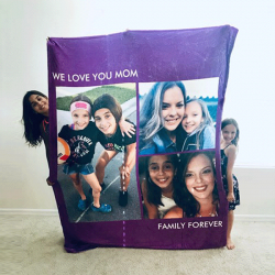 Custom Blankets Personalized Photo Blankets Custom Collage Blankets With 3