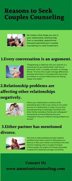 Reasons to Seek Couples Counseling – Ammirati Counseling