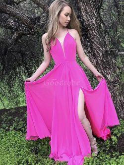 Robe de soirée de princesse chaming manche nulle bandouliere spaghetti naturel – GoodRobe