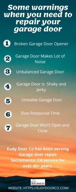 Some Warnings When You Need to Repair Your Garage Door