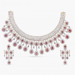 Purchase Astounding designer CZ jewellery necklace set online