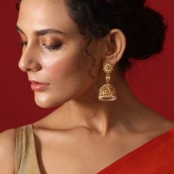 Get the latest designer collection of antique jhumkas