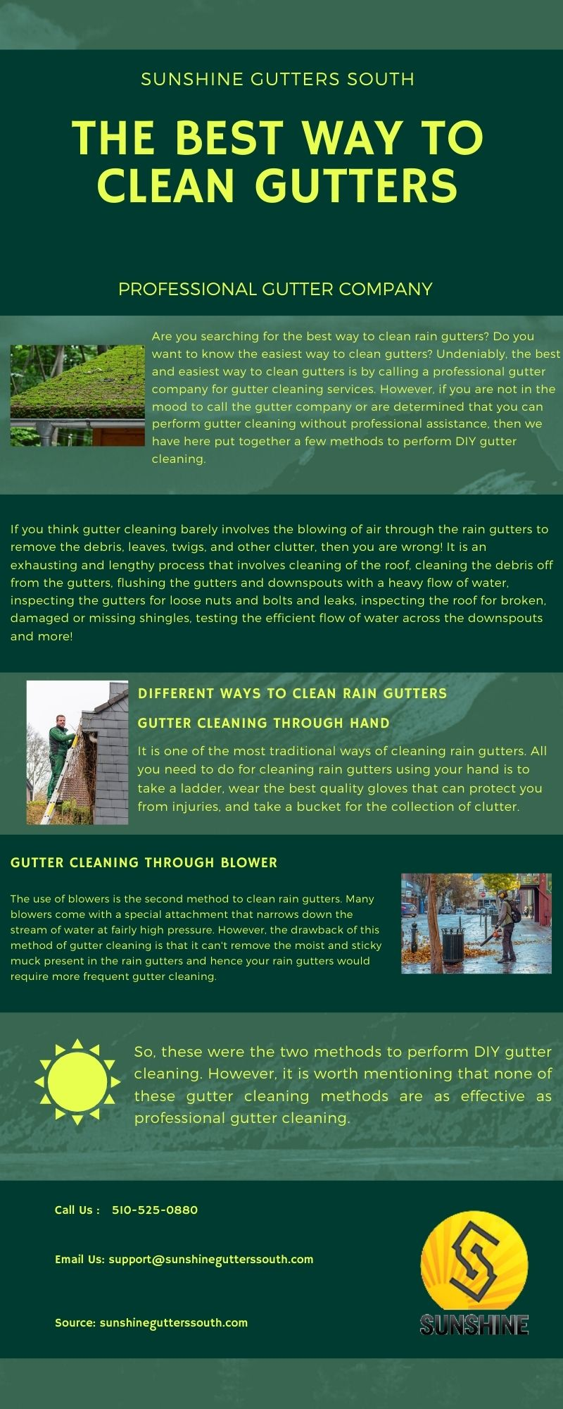 The Best Way To Clean Gutters