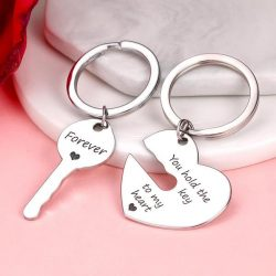 Custom Engraved Couple Keychain Set – Hold The Key To My Heart