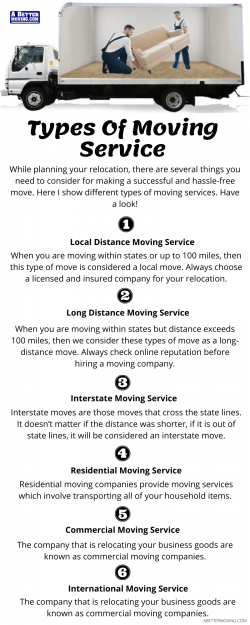 Types of Moving Service
