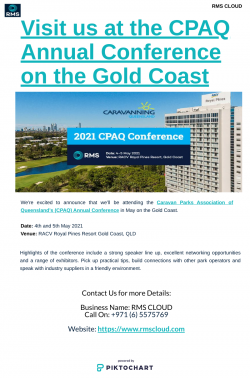 Visit us at the CPAQ Annual Conference on the Gold Coast