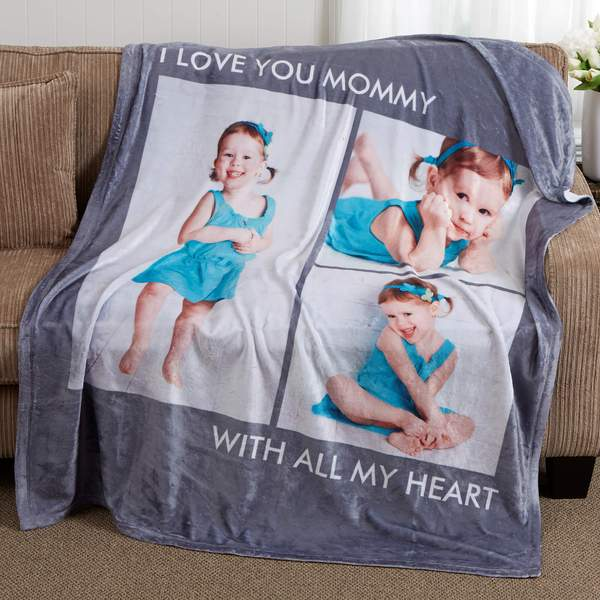 Custom Blankets Personalized Photo Blankets Custom Collage Blankets With 4