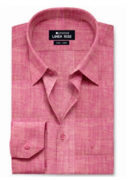 Blush Red Pink – Pure Colour Linen Shirts – LC20005