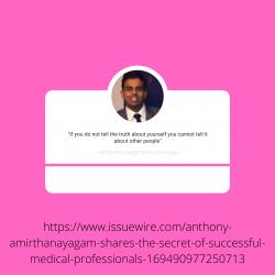 Anthony Amirthanayagam Best Medical Consultant In Canada