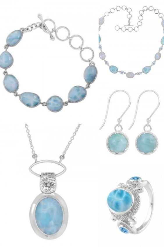 Buy Natural Larimar Stone Jewelry
