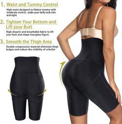 ELEADY Women waist trainer body shaper shorts hi-waist shapewear pants tummy control