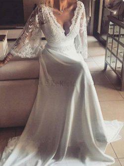 Beliebt Prinzessin a linie Natürliche Taile Brautkleid mit Bordüre mit Gürtel – MeKleid.de