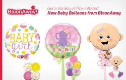 Get a Variety of Pre-inflated New Baby Balloons from BloonAway