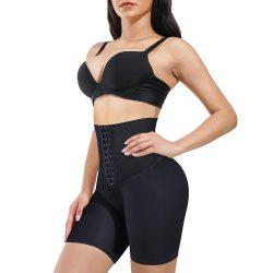 Eleady Women High Waist Body Shaper Buckle Shorts