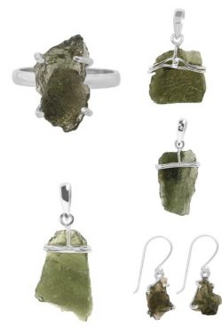 Wholesale Sterling Silver Moldavite Jewelry