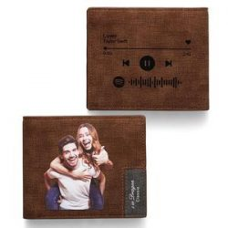Scannable Spotify Code Wallet Photo Engraved Wallet Memorial Gifts-New Arrival