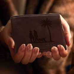 Handwriting Engraved Men Wallet – Gift For Dad – Anniversary Wallet For Husband