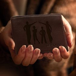 Personalized Wallet Children Artwork Wallet For Husband
