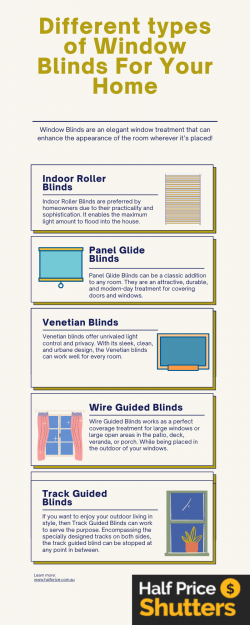 Different types of Window Blinds For Your Home