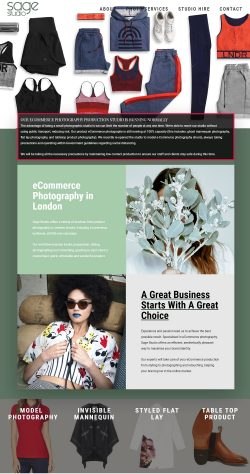Fashion photography studio london